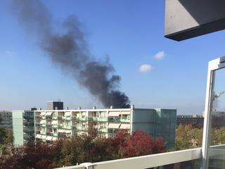 Brand brak buiten uit en sloeg over