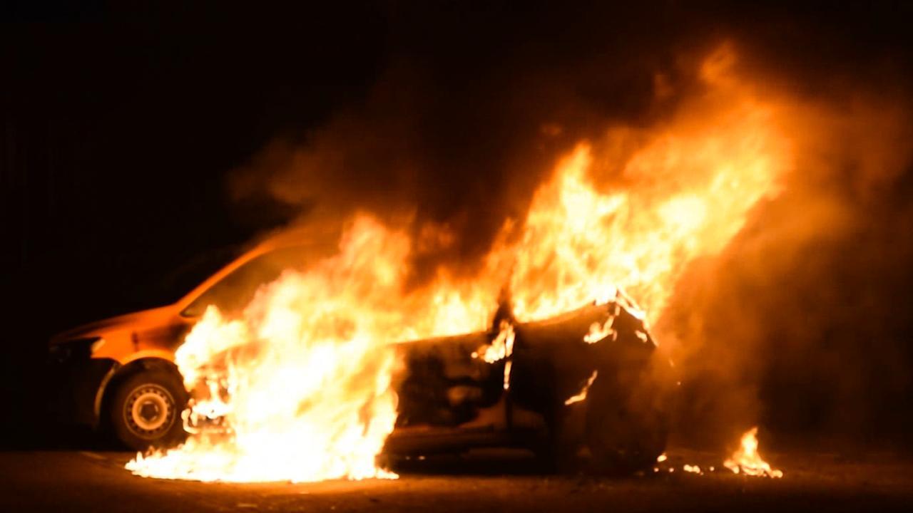 Meerdere auto's uitgebrand in Waddinxveen
