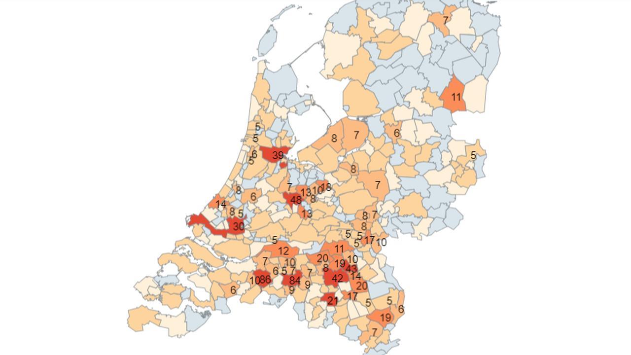 Bekijk Op Deze Kaart Het Aantal Geregistreerde Besmettingen In