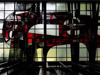 Glas-in-loodraam afkomstig van in 2016 afgebroken kerk