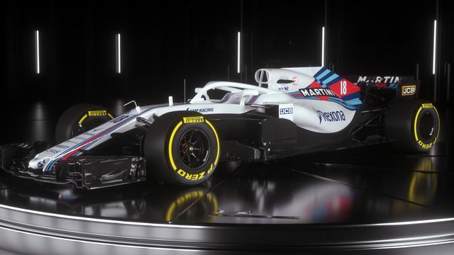 Formule 1-team Williams presenteert nieuwe auto met witte halo