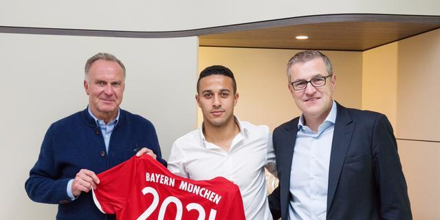 Thiago verlengt contract bij Bayern tot medio 2021