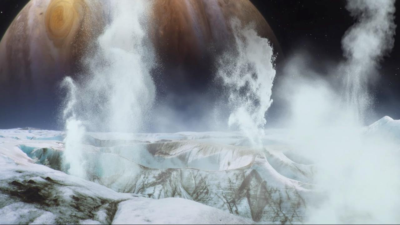 NASA ontdekt mogelijke geisers op maan Europa