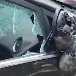 Automobilist ramt met gestolen wagen negen auto's in Rotterdam