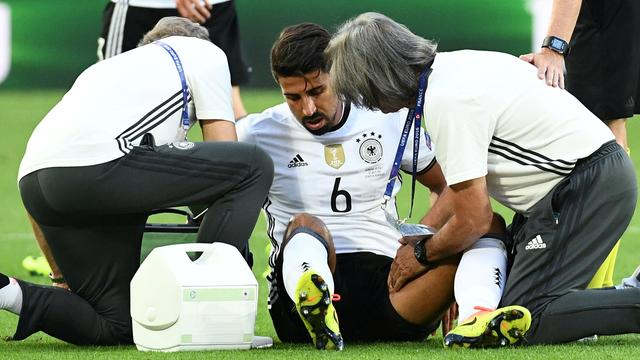 Duitsland mist ook Khedira in halve finale EK
