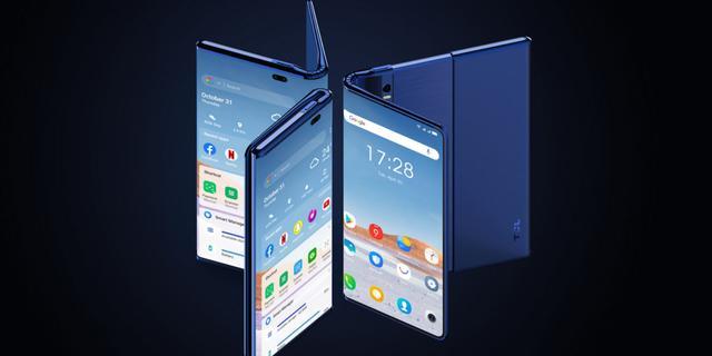 Chinese smartphonemaker TCL toont opvouwbare en oprolbare smartphone