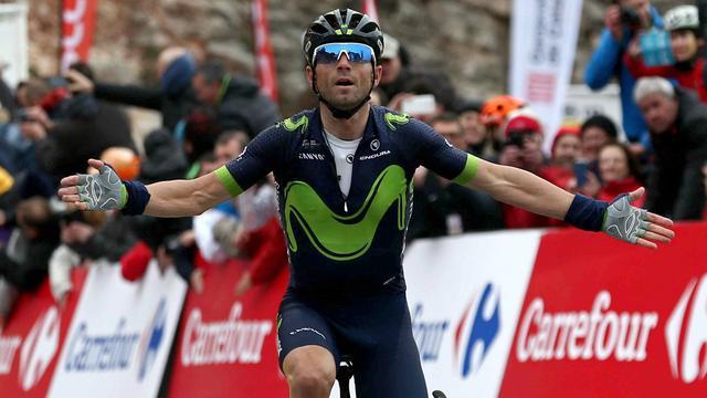 Valverde wint koninginnenrit in Ronde van Baskenland