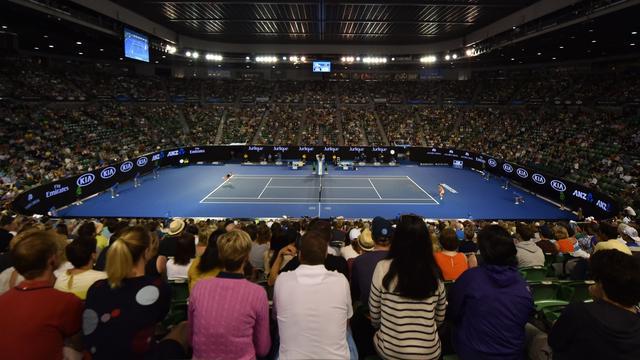 Ongewoon wedgedrag op wedstrijd in dubbelspel Australian Open