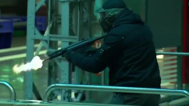 'Terroristen' vallen station Frankfurt aan tijdens grote terreuroefening