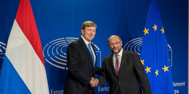 Koning Willem-Alexander breekt lans voor 'samenwerking in Europa'