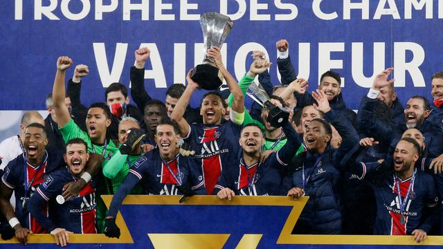 Paris Saint-Germain met de Franse supercup.