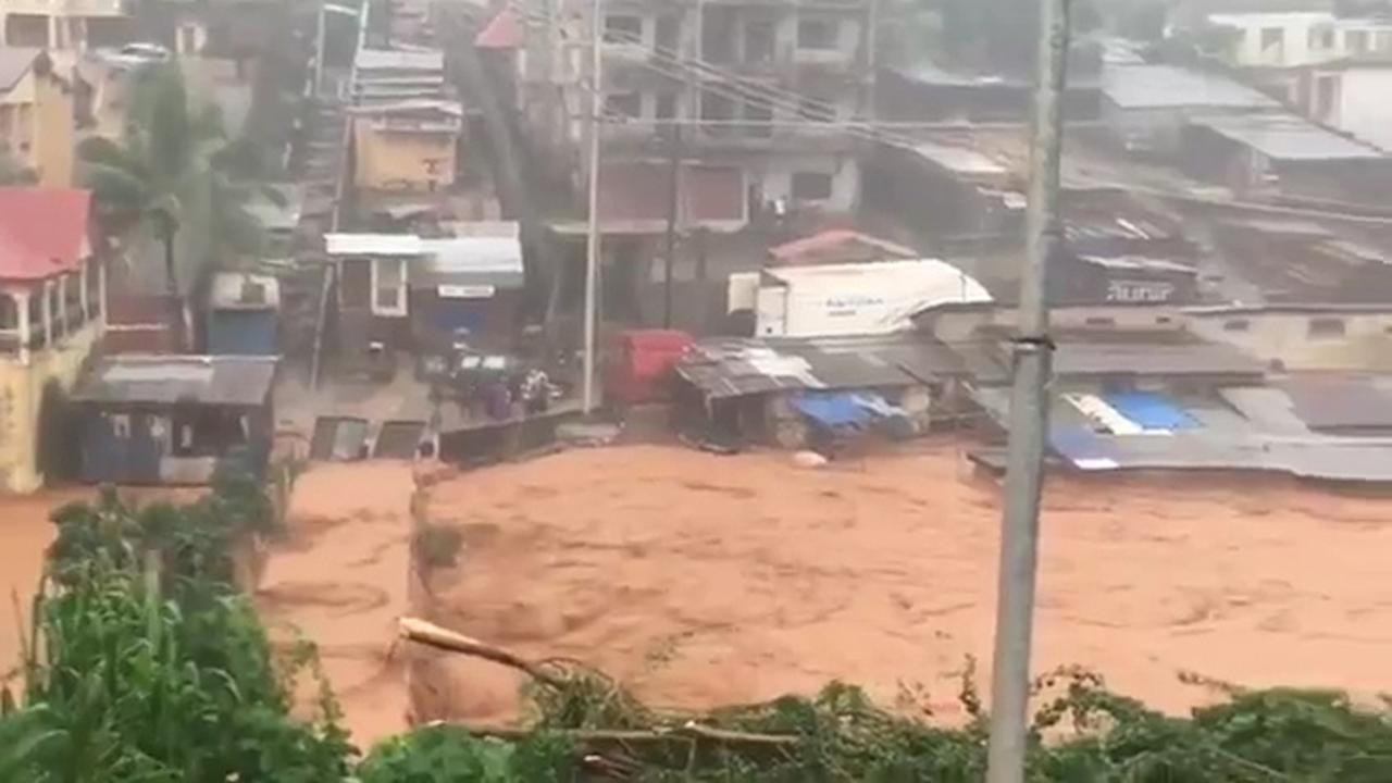 Honderden mensen komen om door modderstroom in Sierra Leone