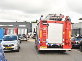 Brandweer is aanwezig
