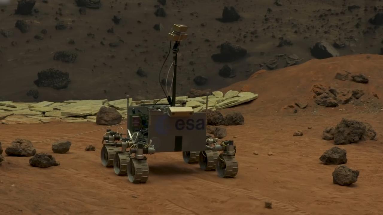 ESA test ExoMars-rover in Noordwijk