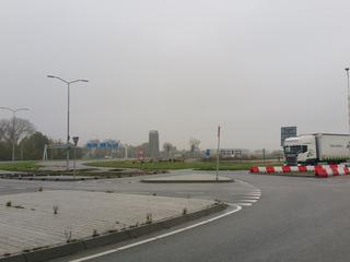 Zand is nodig voor aanleg rotonde en toegangsweg