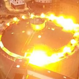 Video: Drone filmt spectaculaire gecontroleerde ontploffing van silo in Aalborg