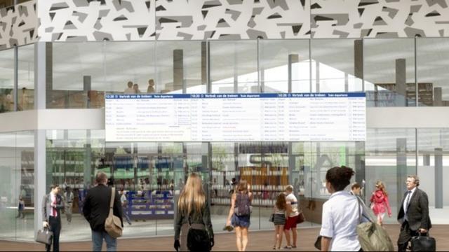 Station Rotterdam Centraal krijgt groot digitaal reisinformatiescherm