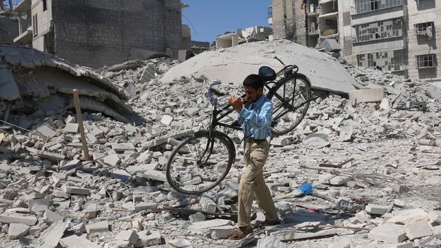 Luchtaanvallen uitgevoerd op Syrische Aleppo ondanks bestand