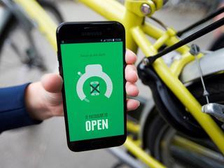 Als fiets in gebruik is, wordt netwerkverbinding verbroken