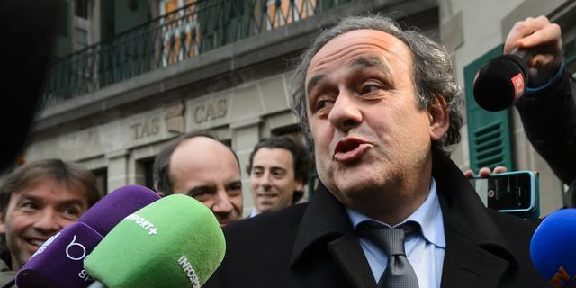 UEFA-preses Platini pleit voor opheffing schorsing bij sporttribunaal CAS