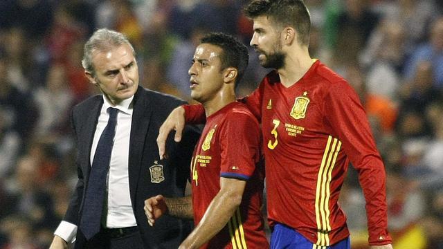 Thiago loopt opnieuw knieblessure op en mist interland tegen België