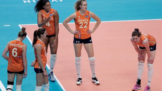 Volleybalsters nipt onderuit tegen Verenigde Staten in Nations League
