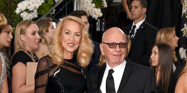 Rupert Murdoch en voormalig model Jerry Hall zijn getrouwd