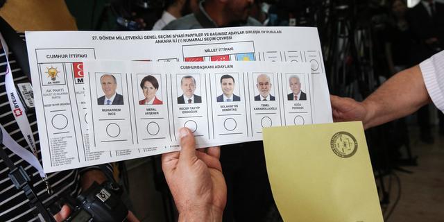 Voorsprong Erdogan bij verkiezingen Turkije loopt terug