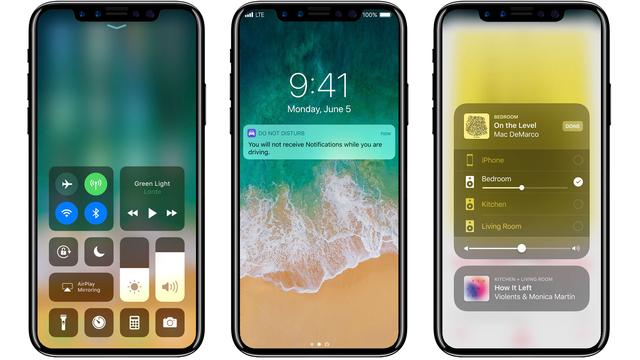 'Gezichtsherkenning iPhone 8 werkt als toestel op tafel ligt'