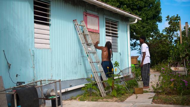 Orkaan Irma gaat recht op Sint Maarten af