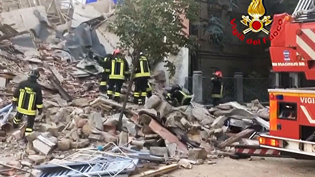 Brandweer Italië doorzoekt puin na gasexplosie