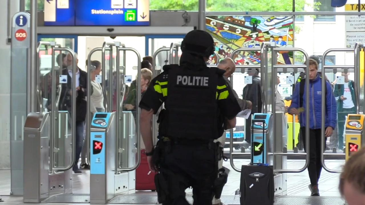Station Amersfoort decor van grote antiterrorisme-oefening