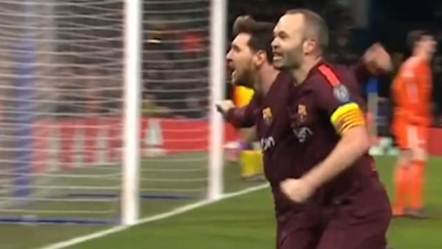 Messi maakt gelijkmaker na fout achterin bij Chelsea