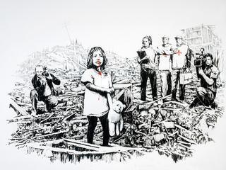 Massive Attack-artiest Robert Del Naja zou de drijvende kracht achter de mysterieuze graffiti-kunstenaar zijn