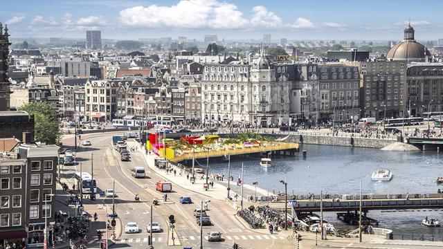 Amsterdam krijgt stadsstrand bij Centraal Station