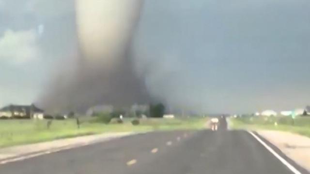Grote tornado raast door Amerikaanse staat Wyoming