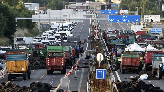 Blokkades bij wegen Lyon door boeren opgeheven