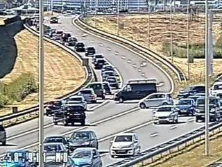 Vijftig bestuurders reden vorige week tegen verkeer in na ongeluk in tunnel