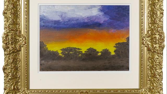 Afrikaans landschap bij nacht (1977) van prins Bernard.