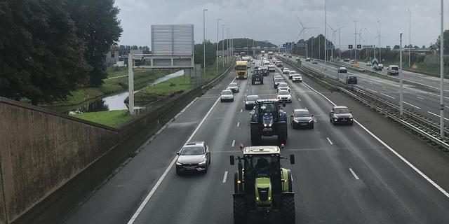 Drukke avondspits door boerenprotest Den Haag, files inmiddels verdwenen