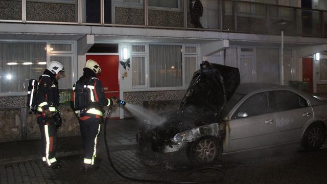 Auto uitgebrand op parkeerplaats Kopermolen