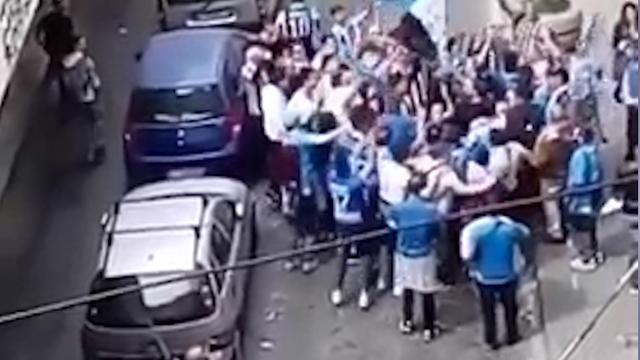 'Clash' tussen supporters Napoli en Juventus wordt groot feest