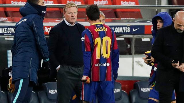 Ronald Koeman houdt alle vertrouwen in Lionel Messi.