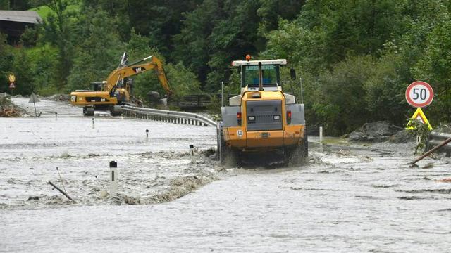 Wegen in Oostenrijk weer begaanbaar na noodweer