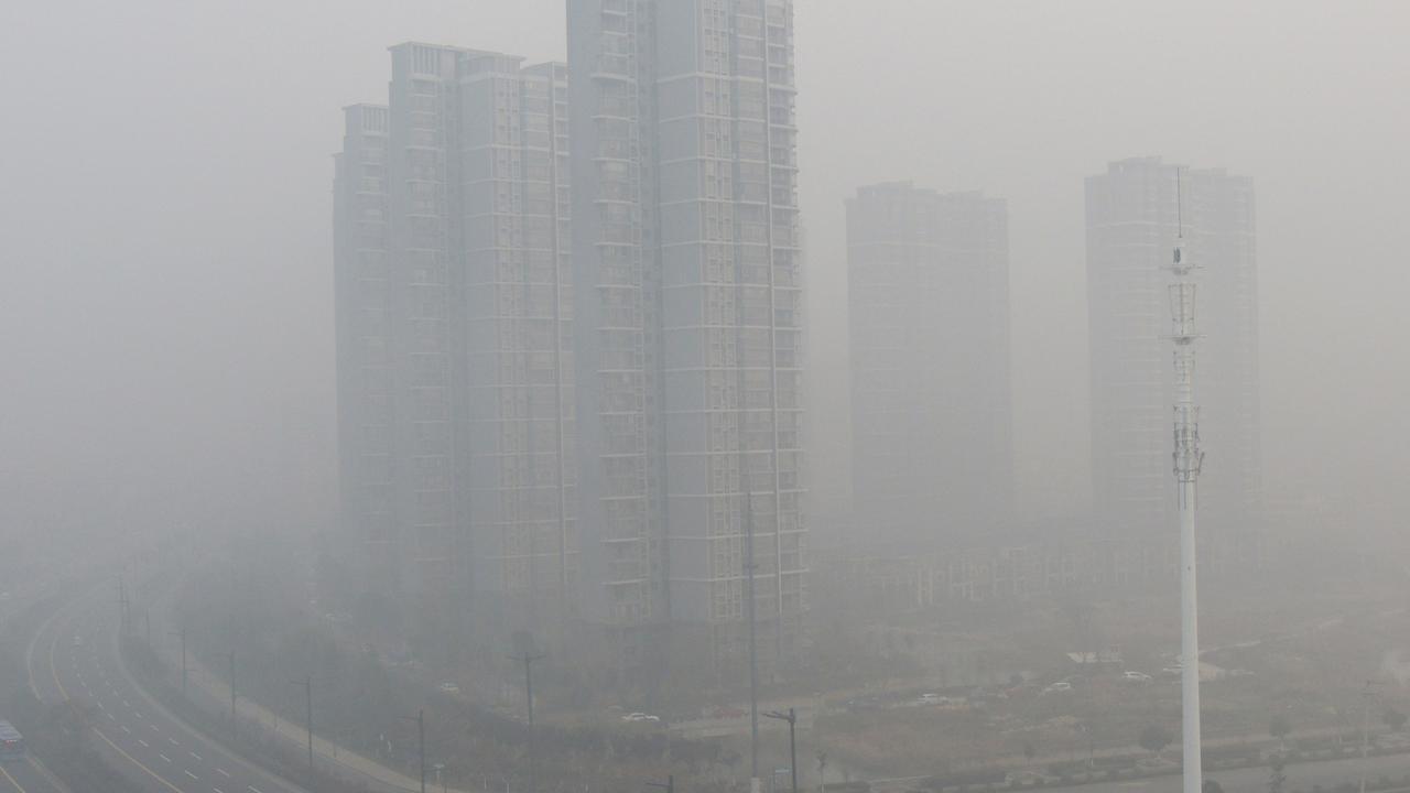 Zware smog in Peking