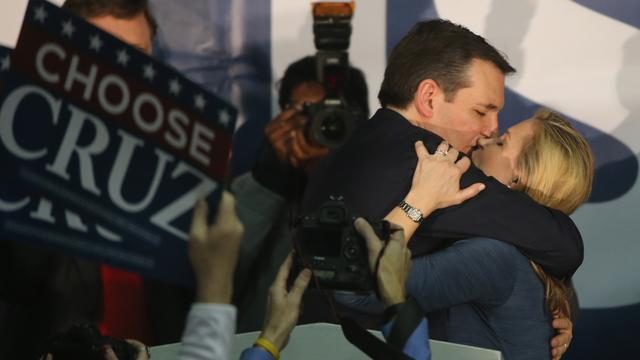 Ted Cruz wint Republikeinse voorverkiezing in Iowa