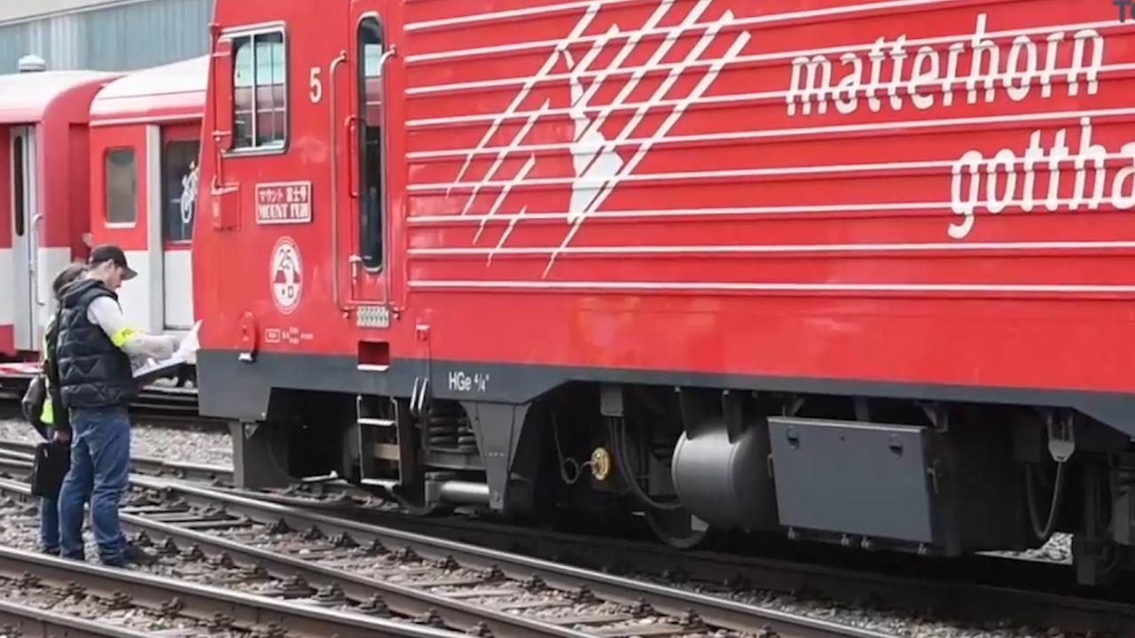 Politie doet onderzoek naar treinongeluk in Zwitserland