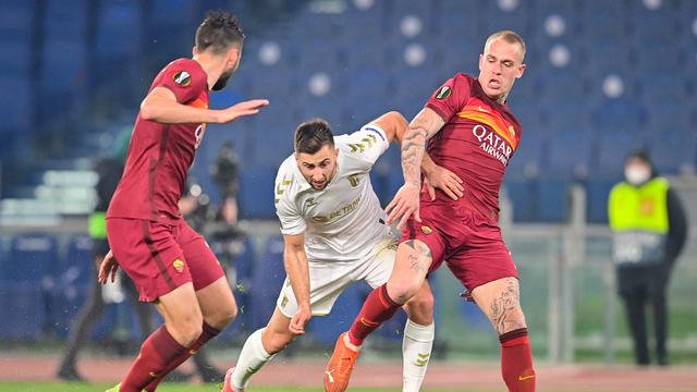 Rick Karsdorp plaatste zich met AS Roma voor de achtste finales.