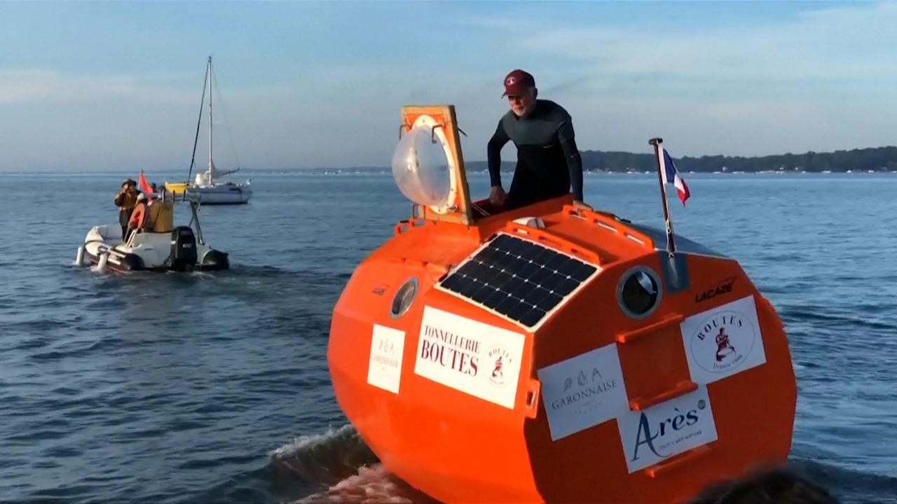 Fransman laat ton zien waarin hij oceaan gaat oversteken
