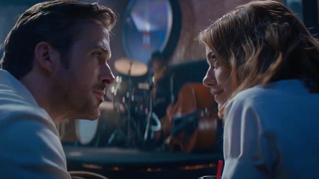Emma Stone en Ryan Gosling op Hollywood Walk of Fame